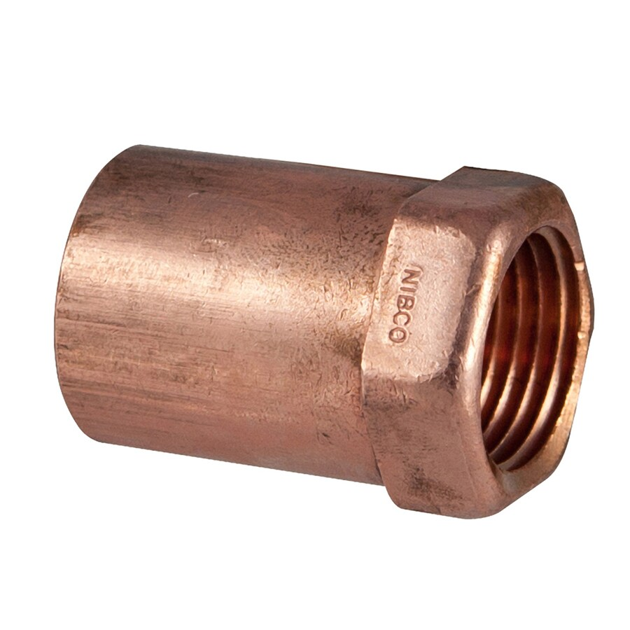 NIBCO 3/4-in x 1/2-in Copper Threaded Adapter Fitting
