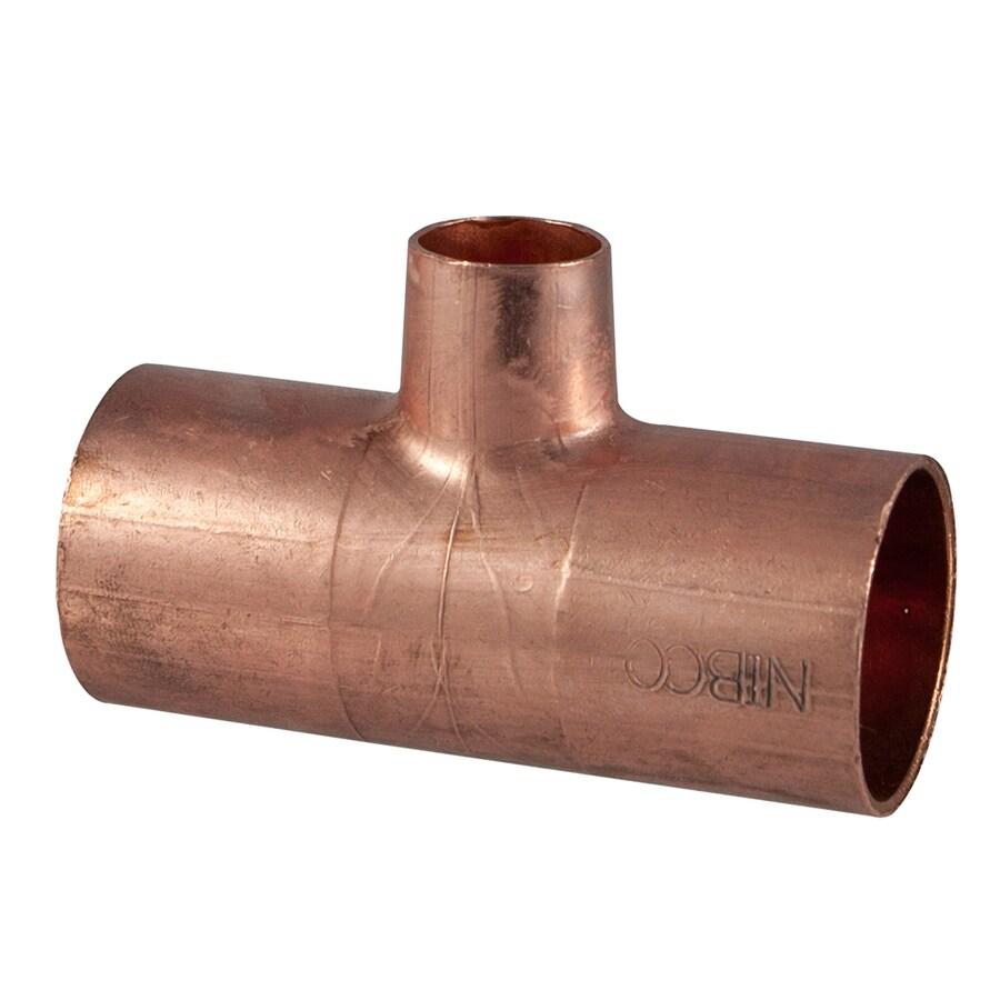 3/4-in x 3/4-in x 1/2-in Copper Slip Tee Fitting