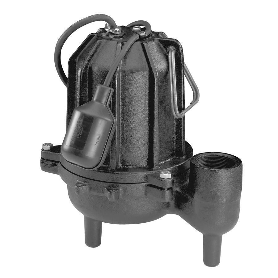 Utilitech 1/2-HP Cast-Iron 128 GPM Sewage Sump Pump