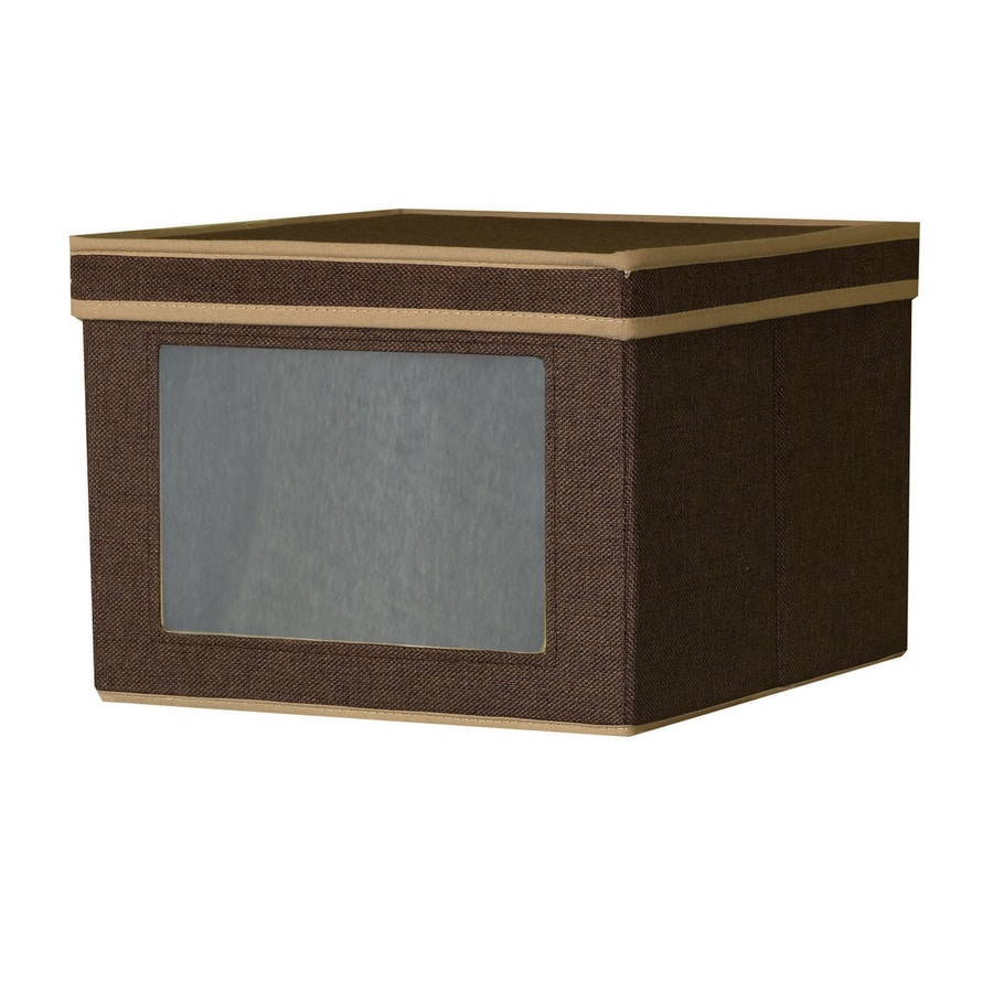 Household Essentials 8.5-in W x 12.25-in H x 13.25-in D Coffee Fabric Bin