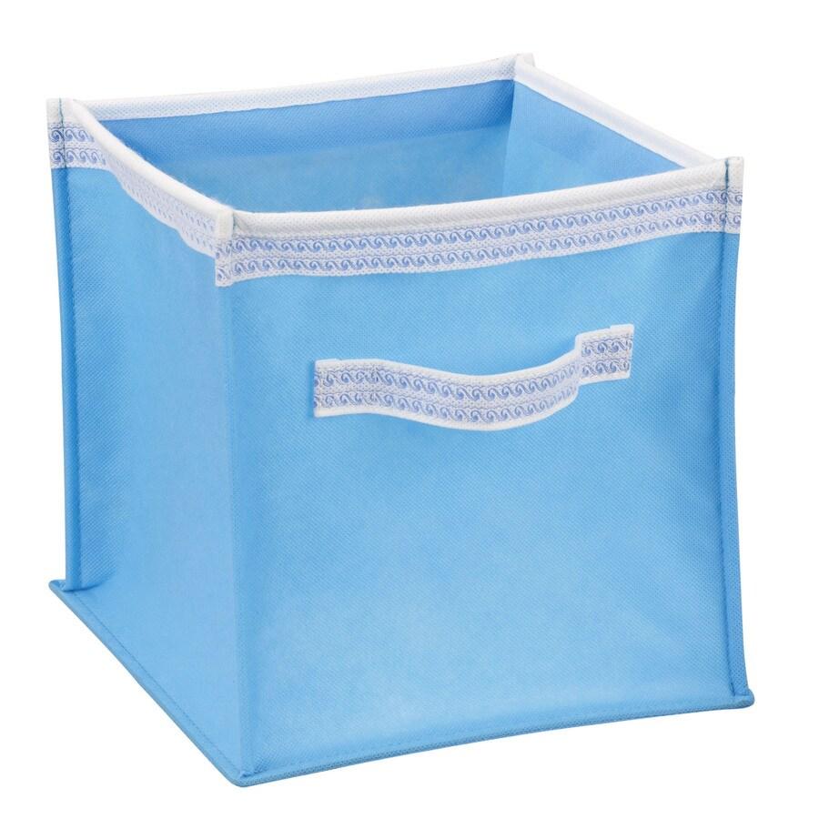 Household Essentials 10-in W x 10-in H x 10-in D Aqua Fabric Bin