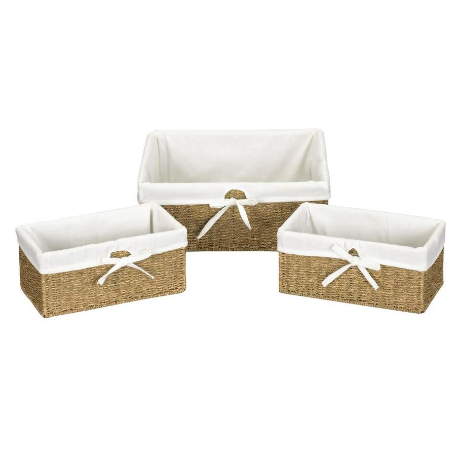 Household Essentials 3-Piece Wicker Basket