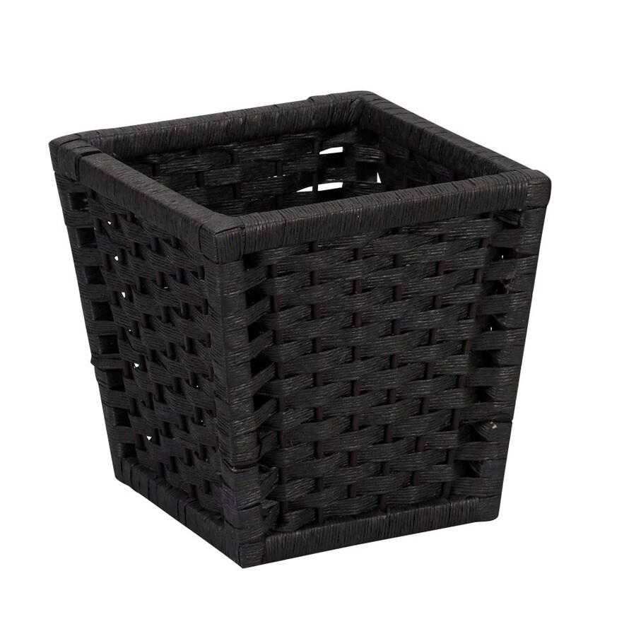 Household Essentials Black Wastebasket
