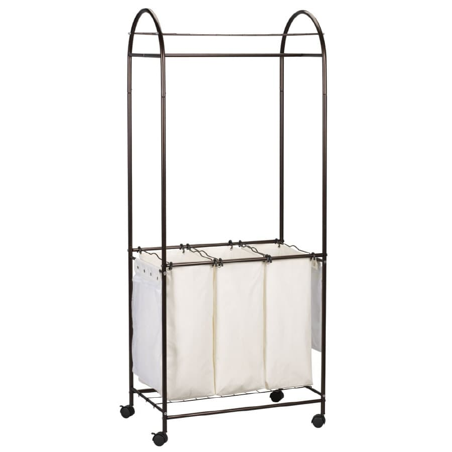 Style Selections 72.25-in x 29.87-in x 18-in Freestanding Metal Laundry Sorter