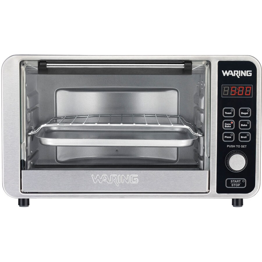 Slice Toaster Oven With Spots ~ Shop waring pro slice convection toaster oven at lowes
