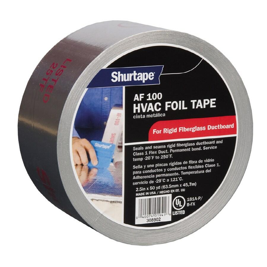 Shurtape 2.5-in x 150-ft Silver/Aluminum HVAC Tape