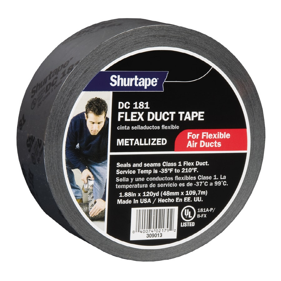 Shurtape 1.88-in x 360-ft Silver Metallic Duct Tape