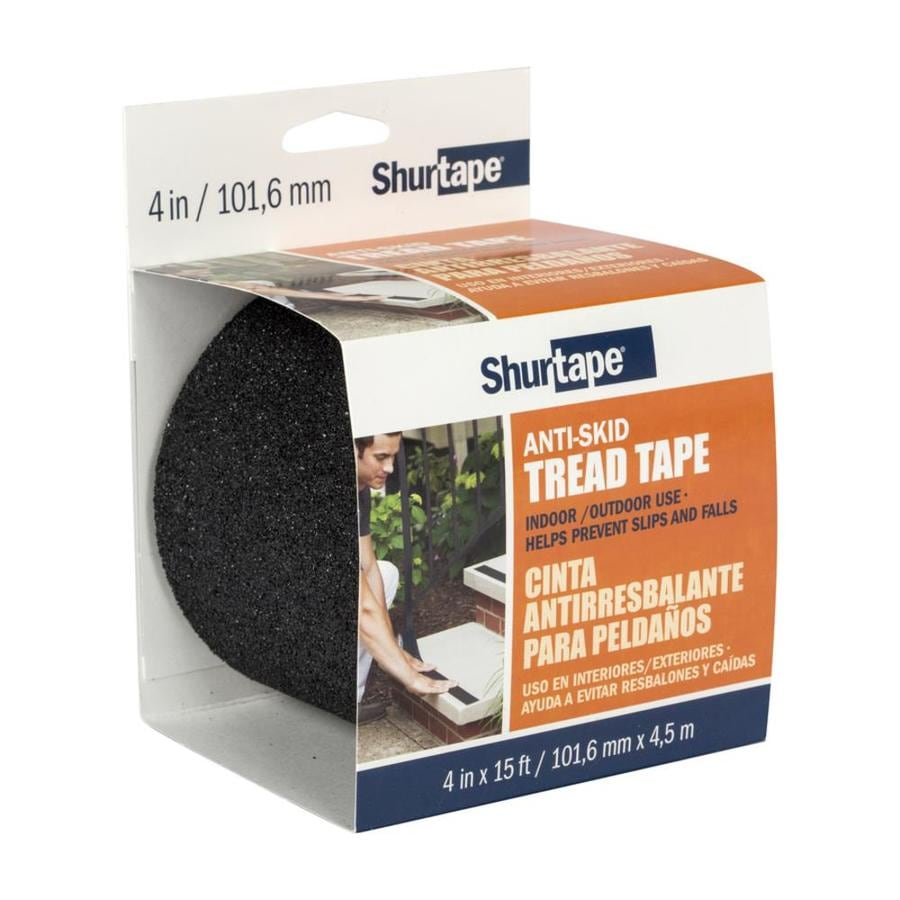 Shurtape 4-in x 180-in Black Safety Tape