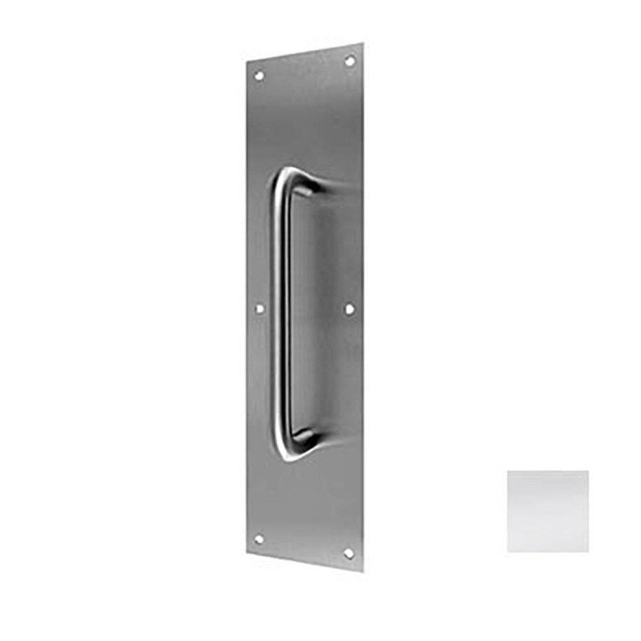 DON-JO 4-in x 16-in Bright Stainless Steel Entry Door Pull Plate