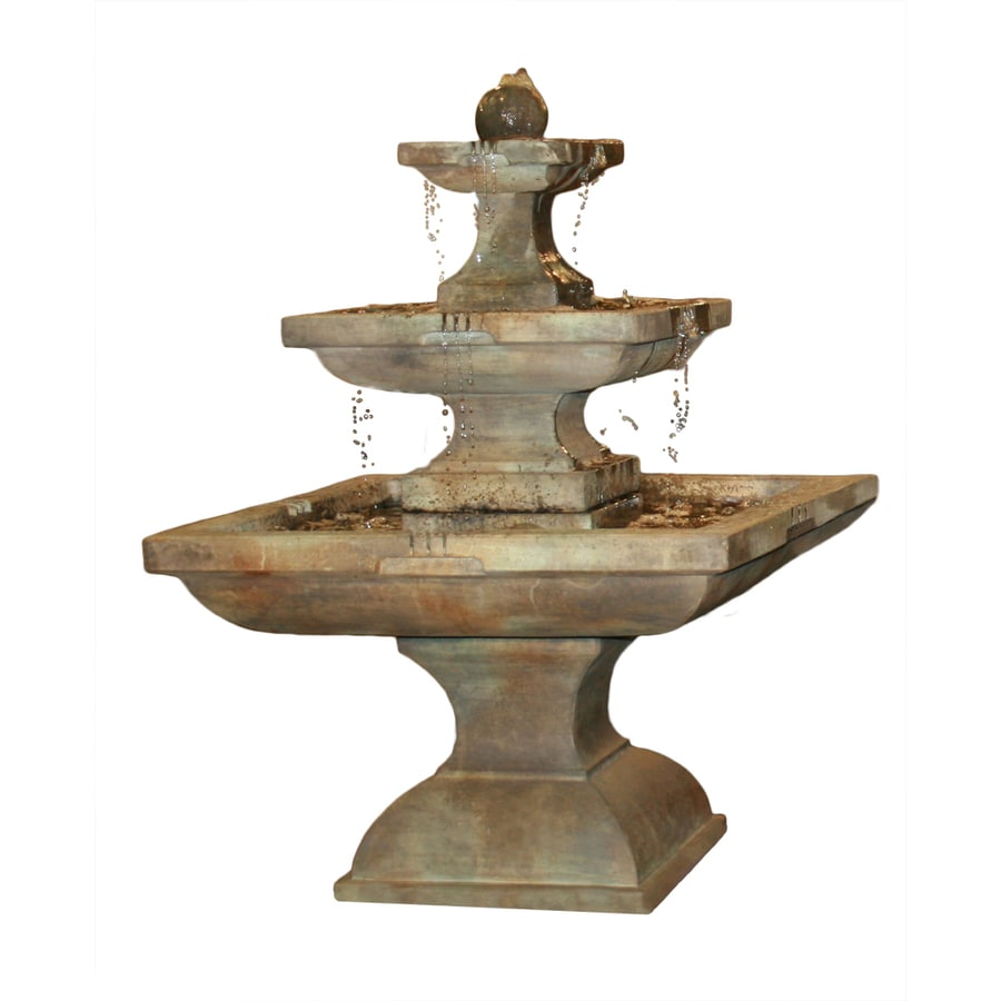 Henri Studio Equinox 3-Tier Outdoor Fountain with Pump