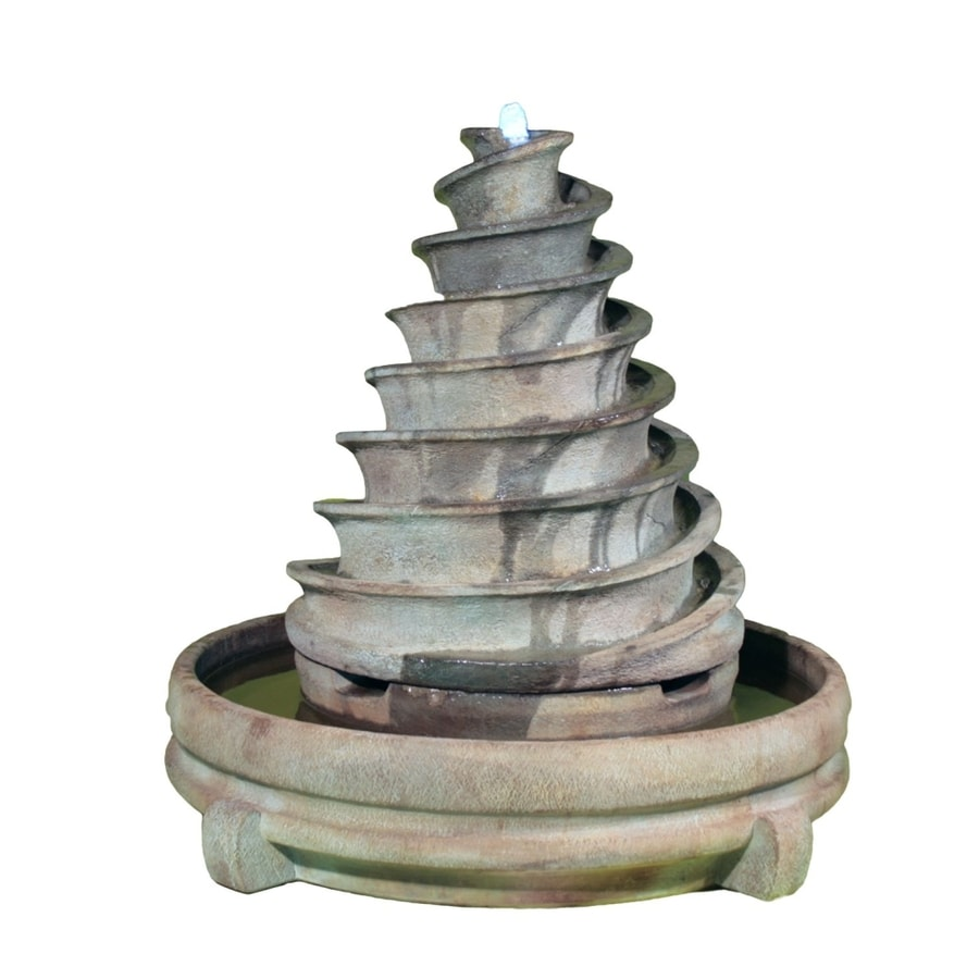 Henri Studio Patio 1-Tier Outdoor Fountain with Pump
