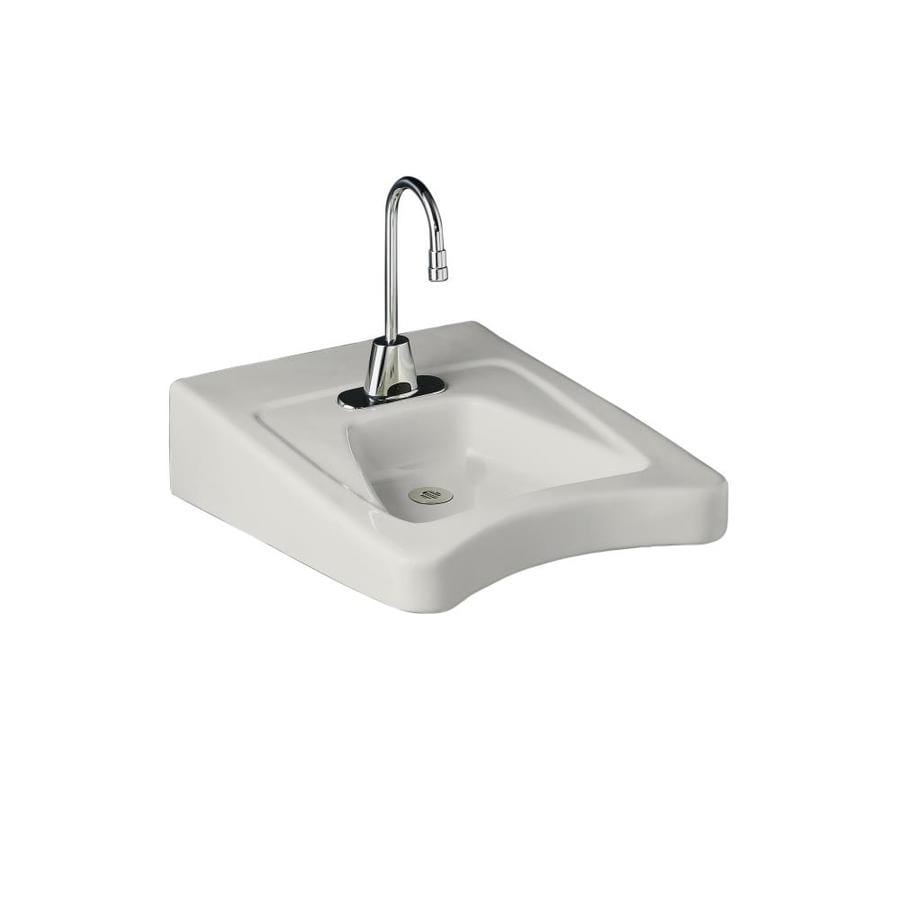 KOHLER Morningside White Wall-Mount Rectangular Bathroom Sink with ...
