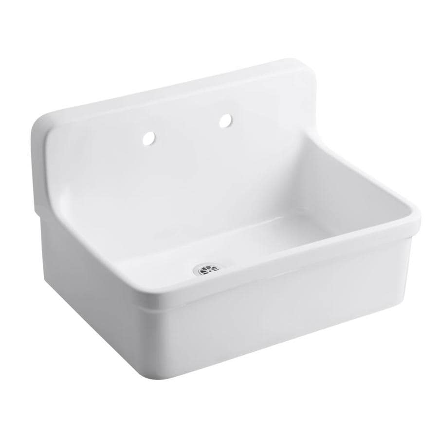 Laundry Sink Wall Mount : ... -in White Wall Mount Vitreous China Laundry Utility Sink at Lowes.com
