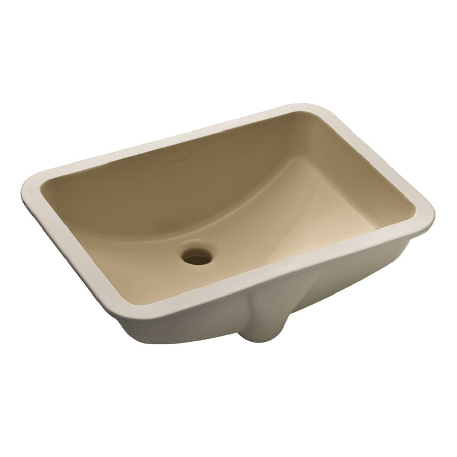 Kohler Rectangular Sink : KOHLER Ladena Mexican Sand Undermount Rectangular Bathroom Sink with ...