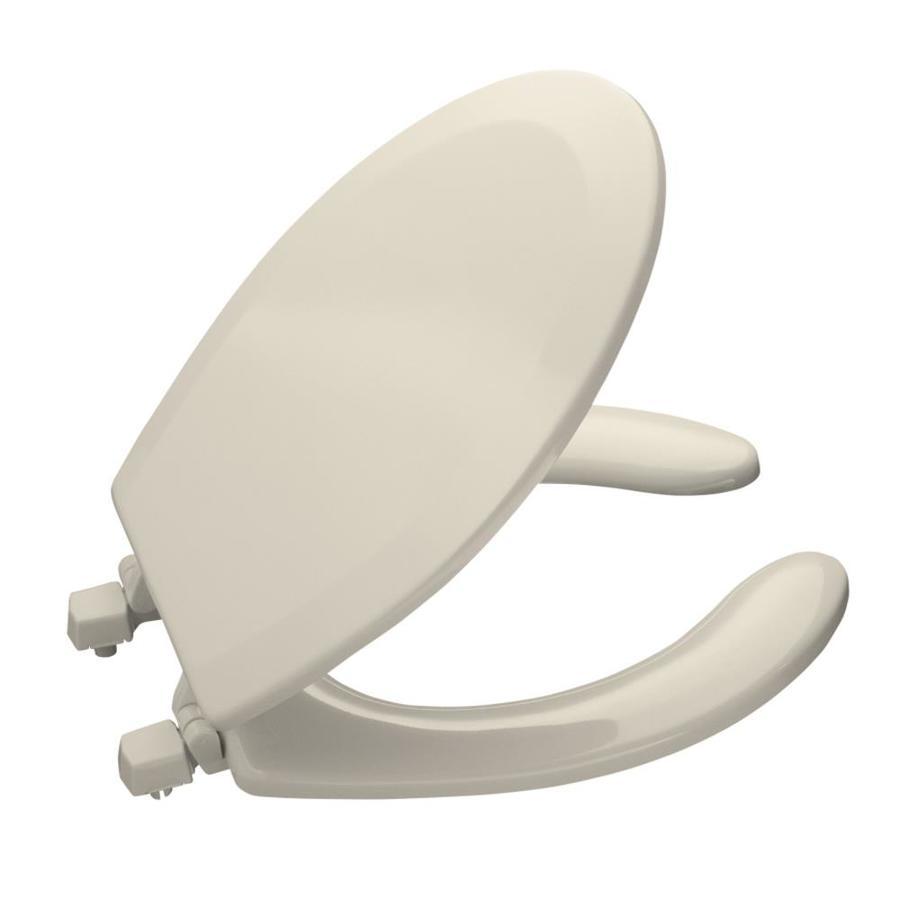 KOHLER Lustra Almond Plastic Round Toilet Seat