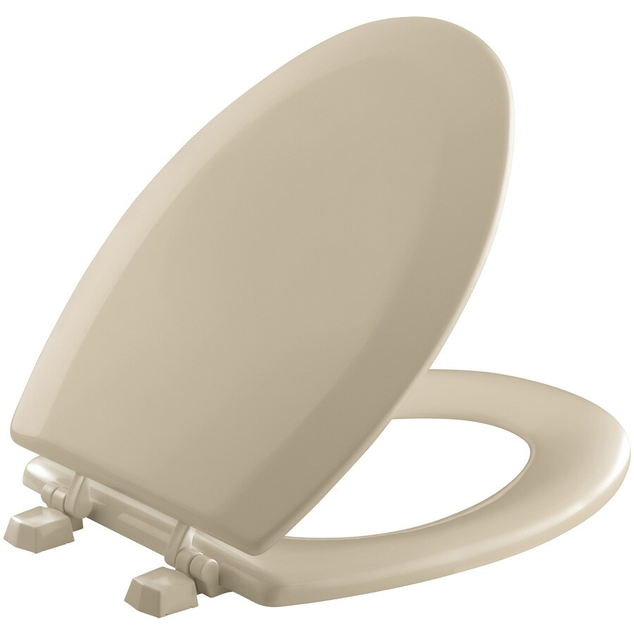 Shop Kohler Triko Mexican Sand Wood Elongated Toilet Seat At