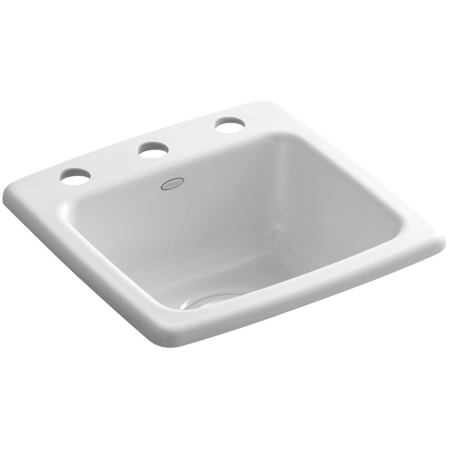 Kohler Bar Sink : ... Gimlet White 1-Hole Cast Iron Drop-in Commercial/Residential Bar Sink