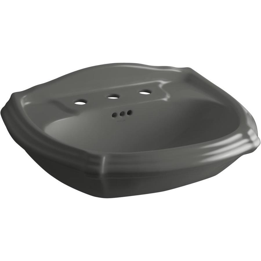 KOHLER 27-in L x 19.38-in W Thunder Grey Vitreous China Pedestal Sink Top