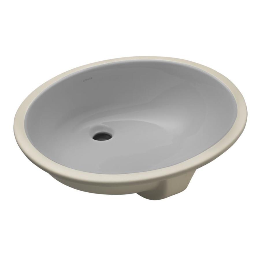 Shop Kohler Caxton Ice Grey Undermount Oval Bathroom Sink