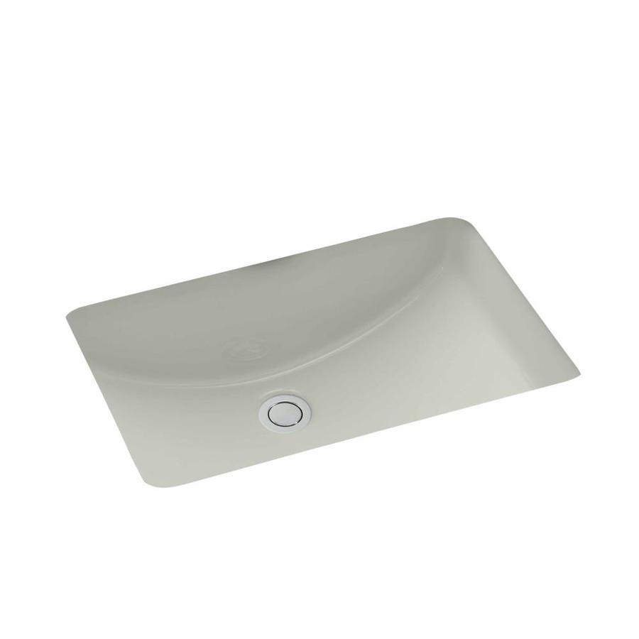 Shop Kohler Ladena Ice Grey Undermount Rectangular Bathroom Sink With Overflow At