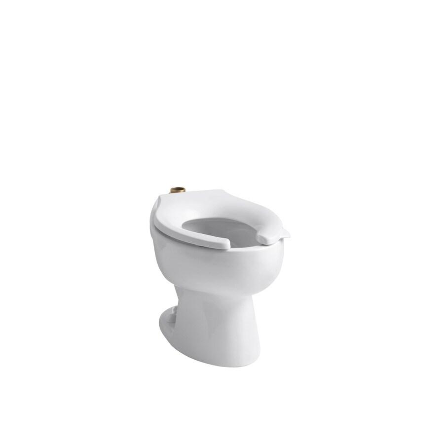 KOHLER Wellcomme Standard Height White 10-in Rough-in Elongated Toilet Bowl