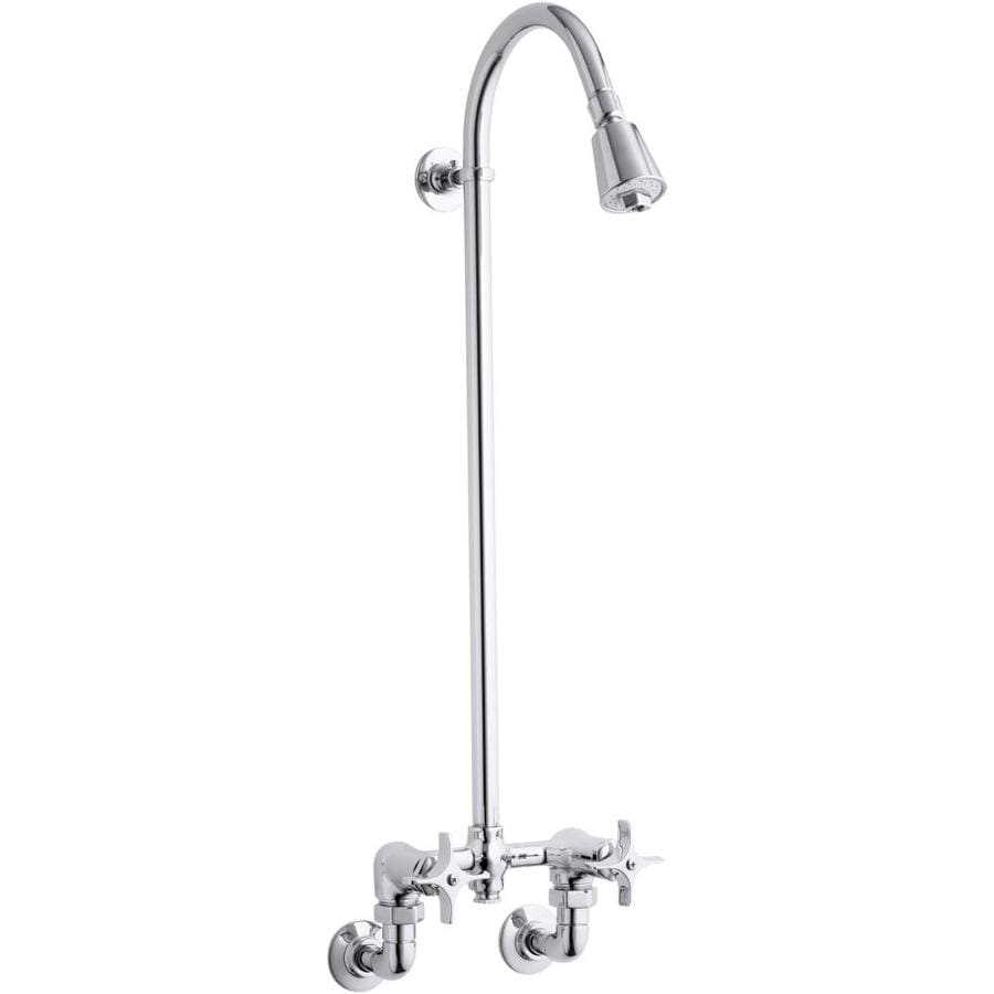 Shop Kohler Polished Chrome 2 Handle Shower Faucet With Single Function Showerhead At