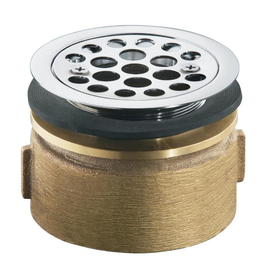 KOHLER 4.5-in Polished Chrome Brass Fixed Post Kitchen Sink Strainer