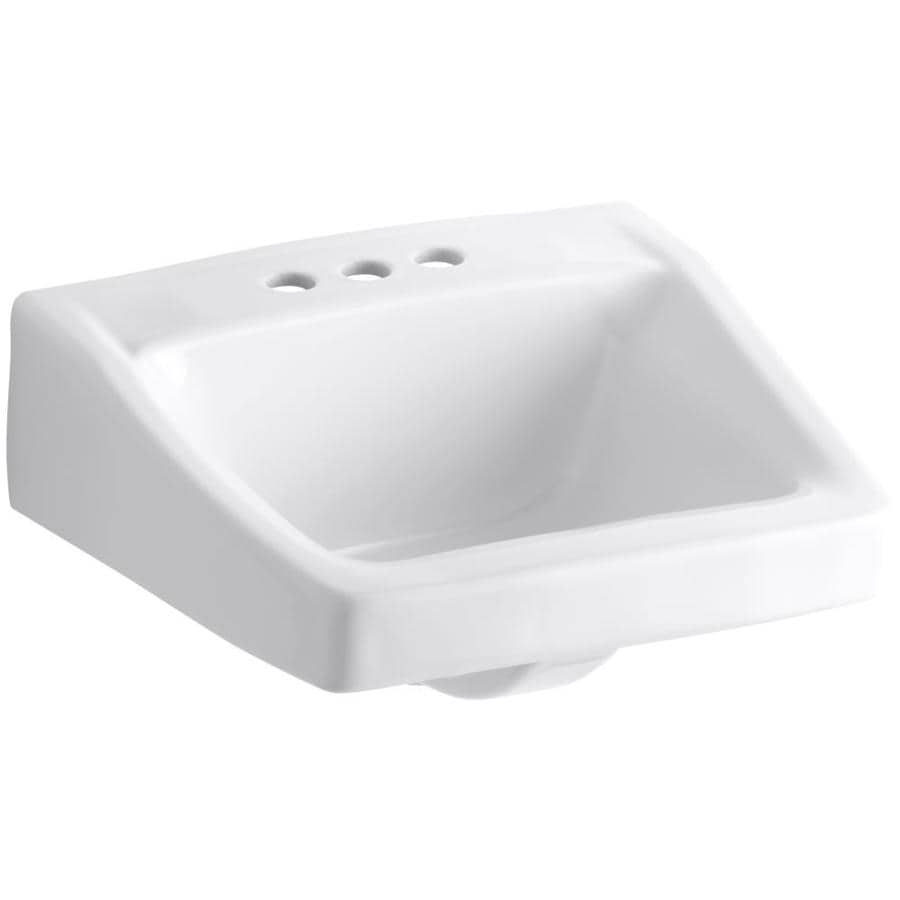 Shop KOHLER Chesapeake White Wall-Mount Rectangular ...