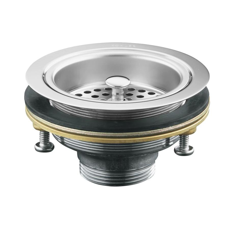 Shop KOHLER Duostrainer 45 in Polished Chrome Brass