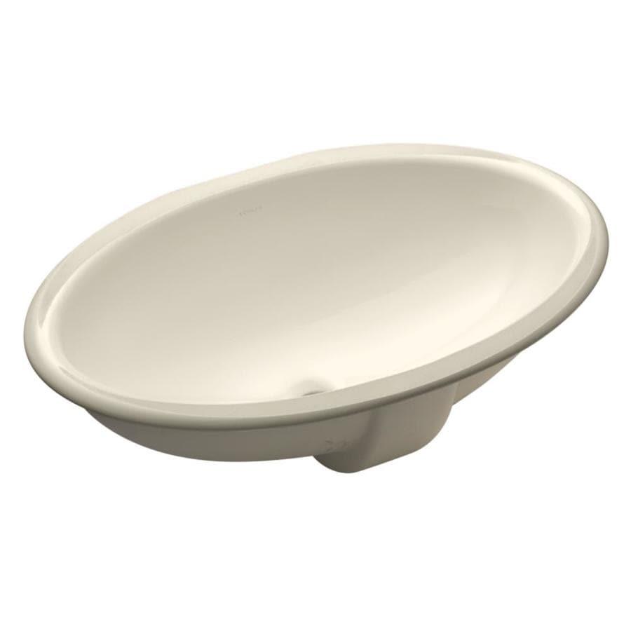 shop kohler vintage biscuit undermount oval bathroom sink