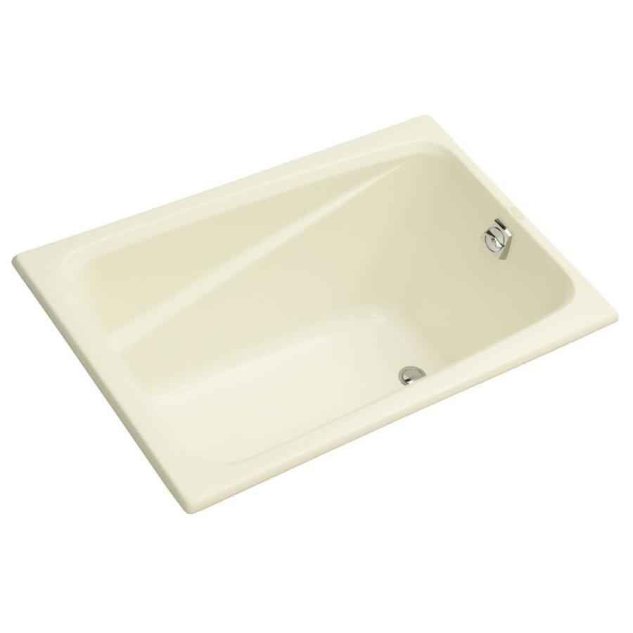 KOHLER Greek Biscuit Acrylic Rectangular Drop-in Bathtub with Reversible Drain (Common: 32-in x 48-in; Actual: 23.38-in x 32-in x 48-in)