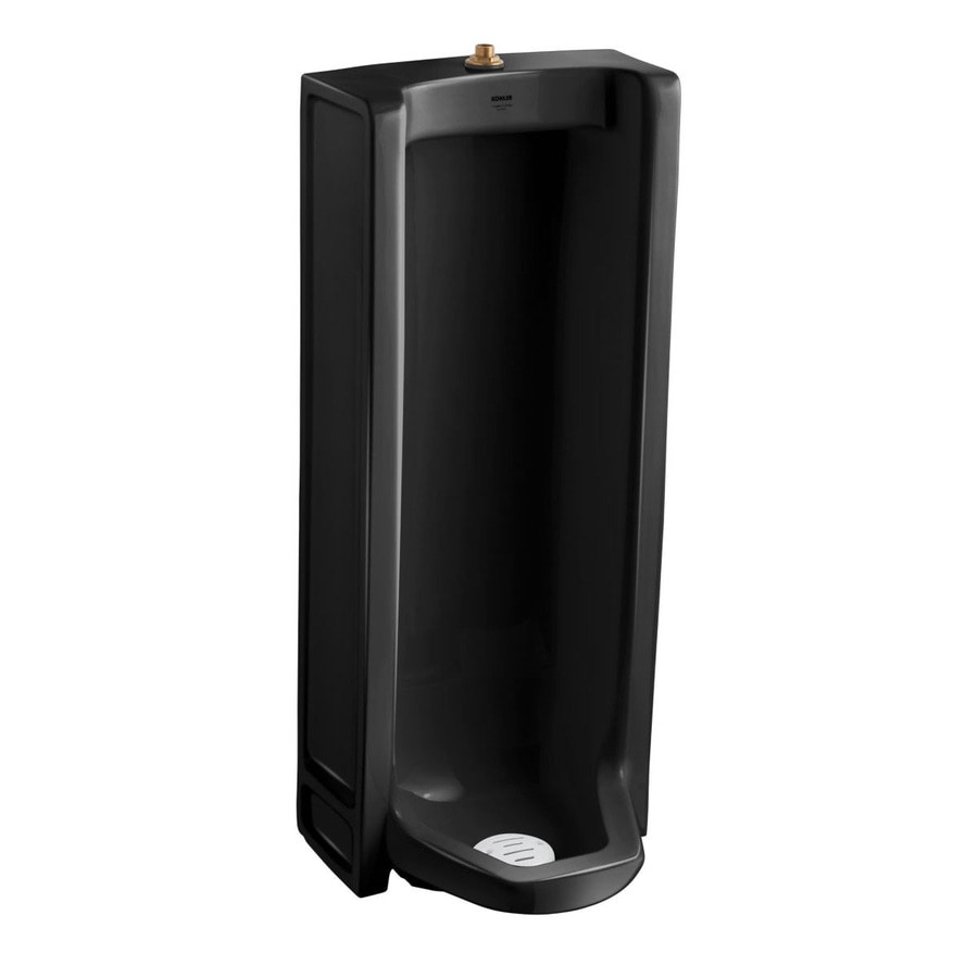 KOHLER 18.25-in W x 42.5-in H Black Black Wall-Mounted Urinal