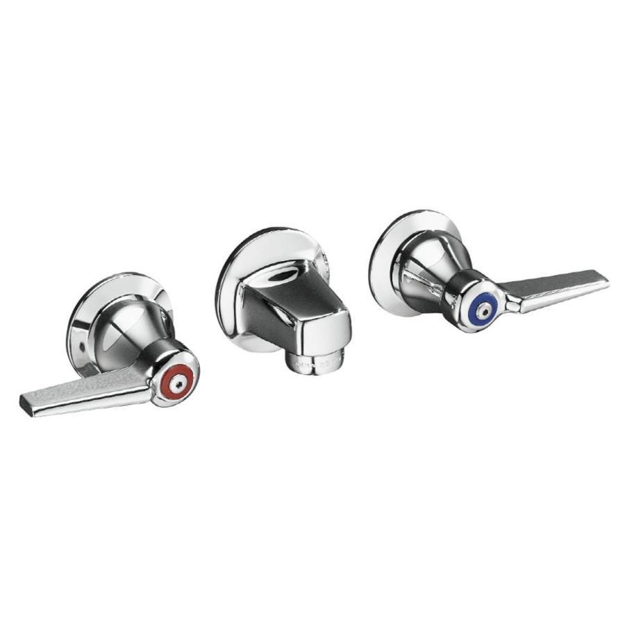KOHLER Triton Polished Chrome 2-Handle Commercial Bathroom Faucet (Drain Included)