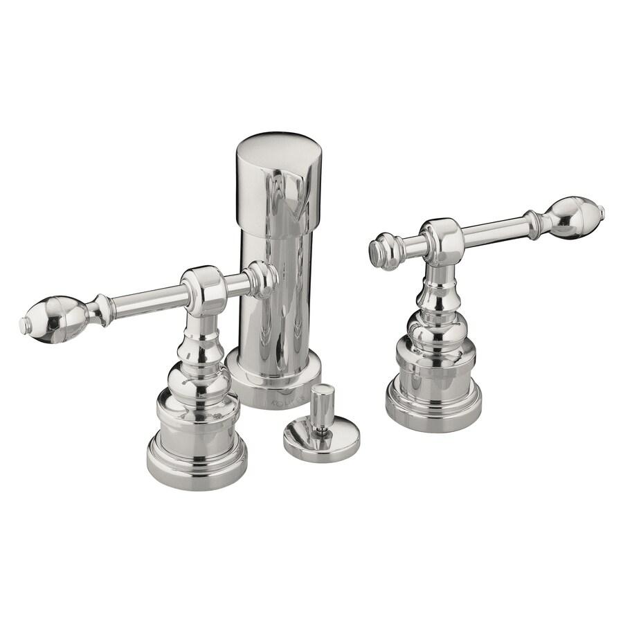 KOHLER IV Georges Vibrant Polished Nickel Vertical Spray Bidet Faucet