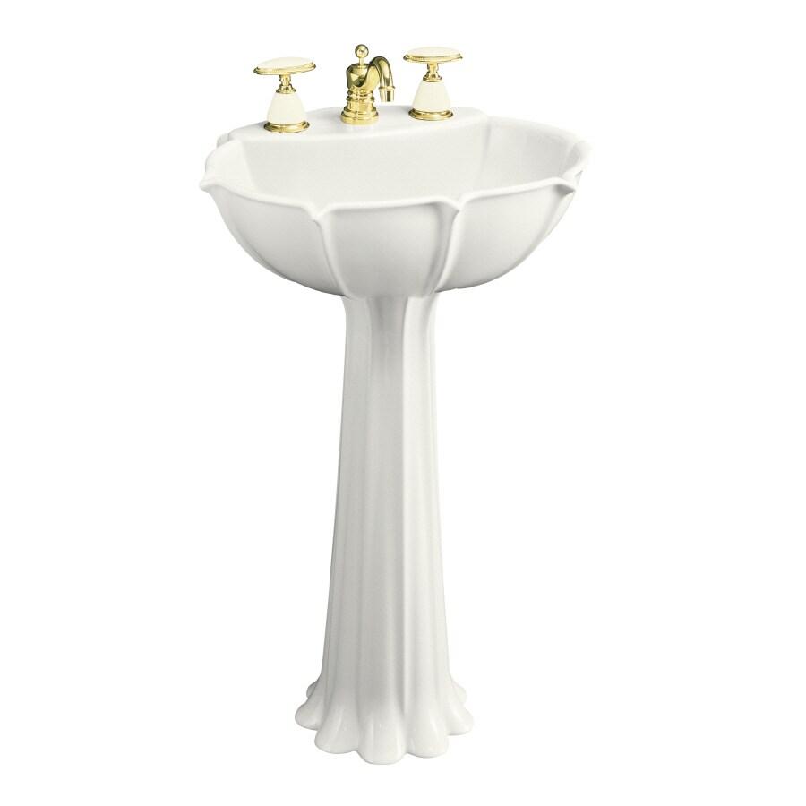 KOHLER Anatole 31.88-in H White Vitreous China Pedestal Sink