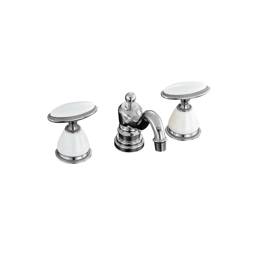KOHLER Antique Polished Chrome 2-Handle Widespread Bathroom Faucet (Drain Included)
