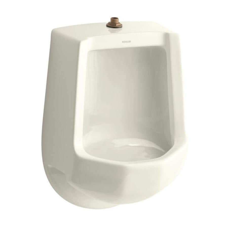KOHLER 16.25-in W x 24-in H Biscuit Wall-Mounted Urinal