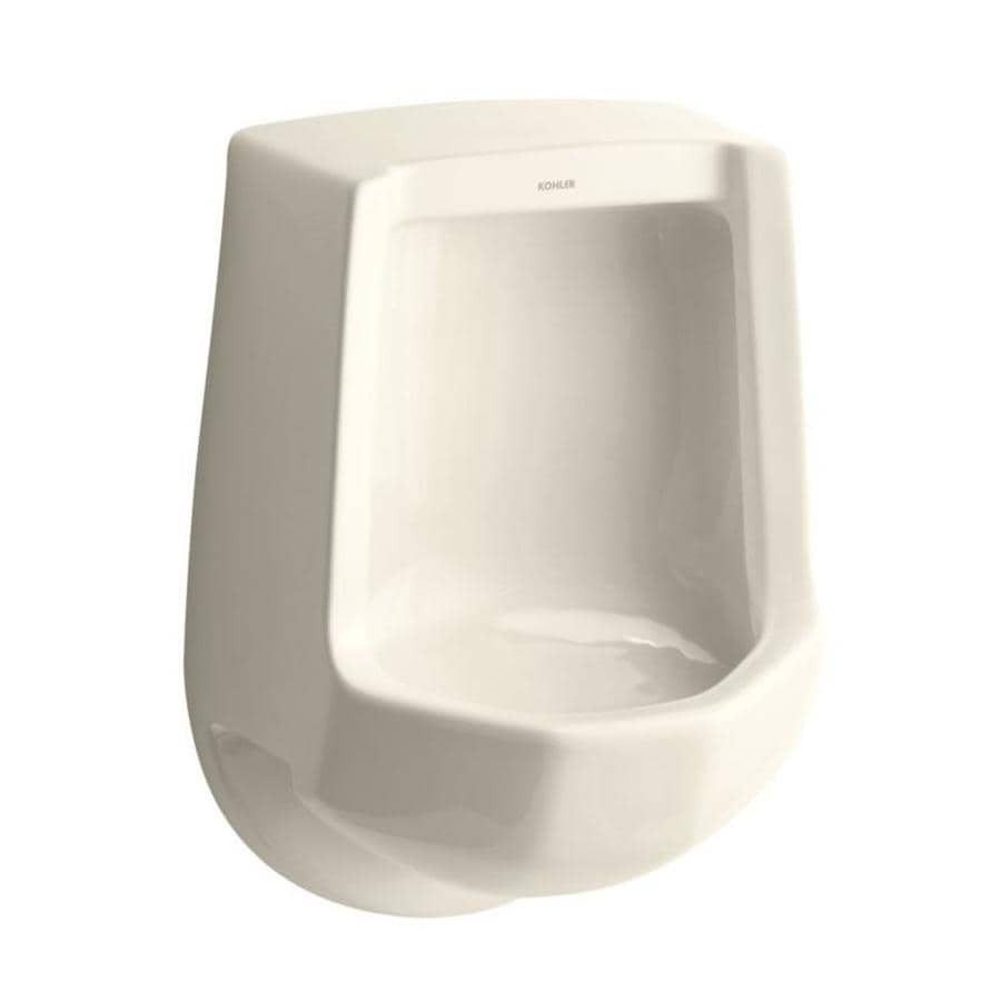 KOHLER 16.25-in W x 24-in H Almond Wall-Mounted Urinal
