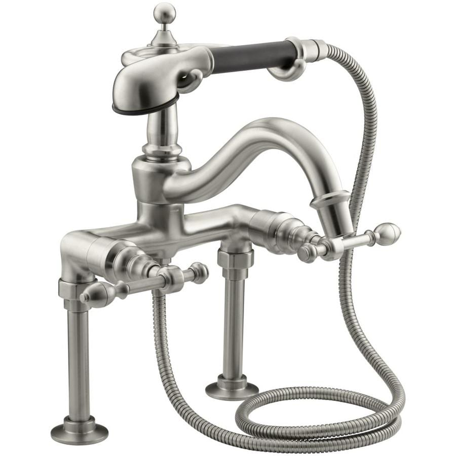 KOHLER IV Georges Brass Vibrant Brushed Nickel 2-Handle Fixed Deck Mount Bathtub Faucet