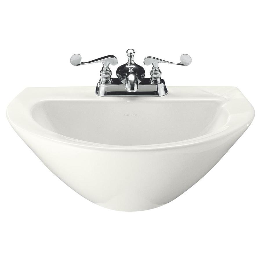 KOHLER Parigi 19.75-in L x 14-in W White Vitreous China Oval Pedestal Sink Top