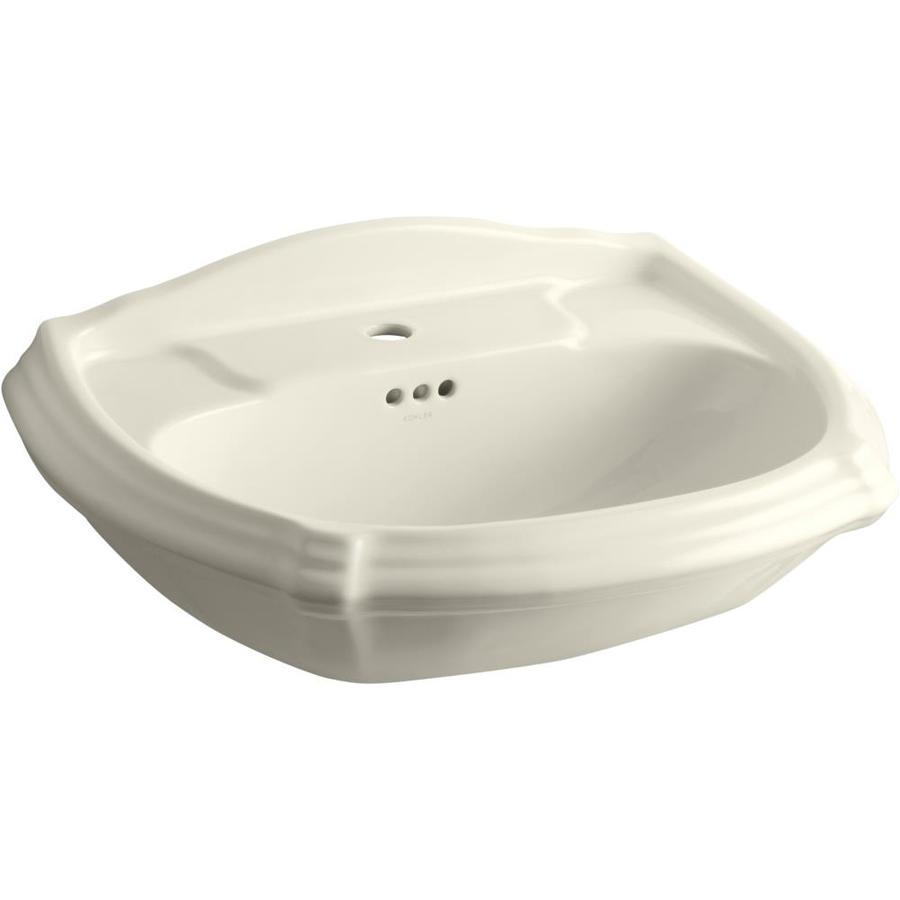 KOHLER 27-in L x 19.38-in W Black Vitreous China Pedestal Sink Top