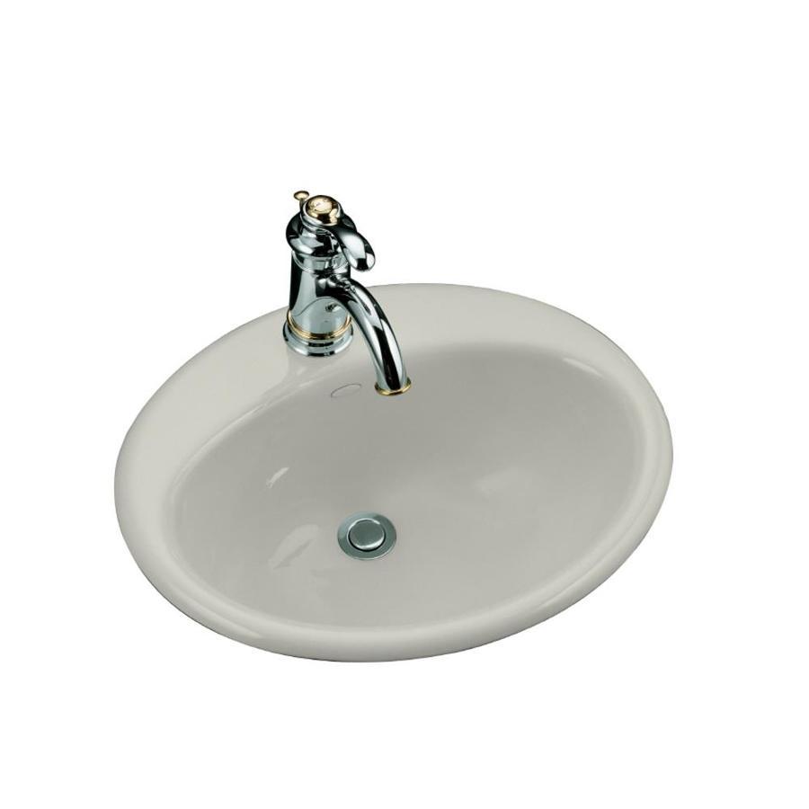 KOHLER Ice Grey Cast Iron Bathroom Sink