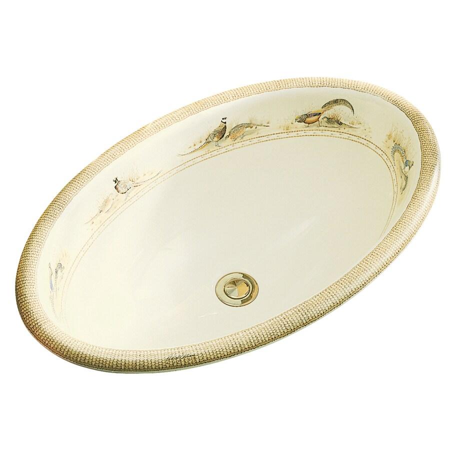 KOHLER Vintage Biscuit Drop-in Oval Bathroom Sink with Overflow