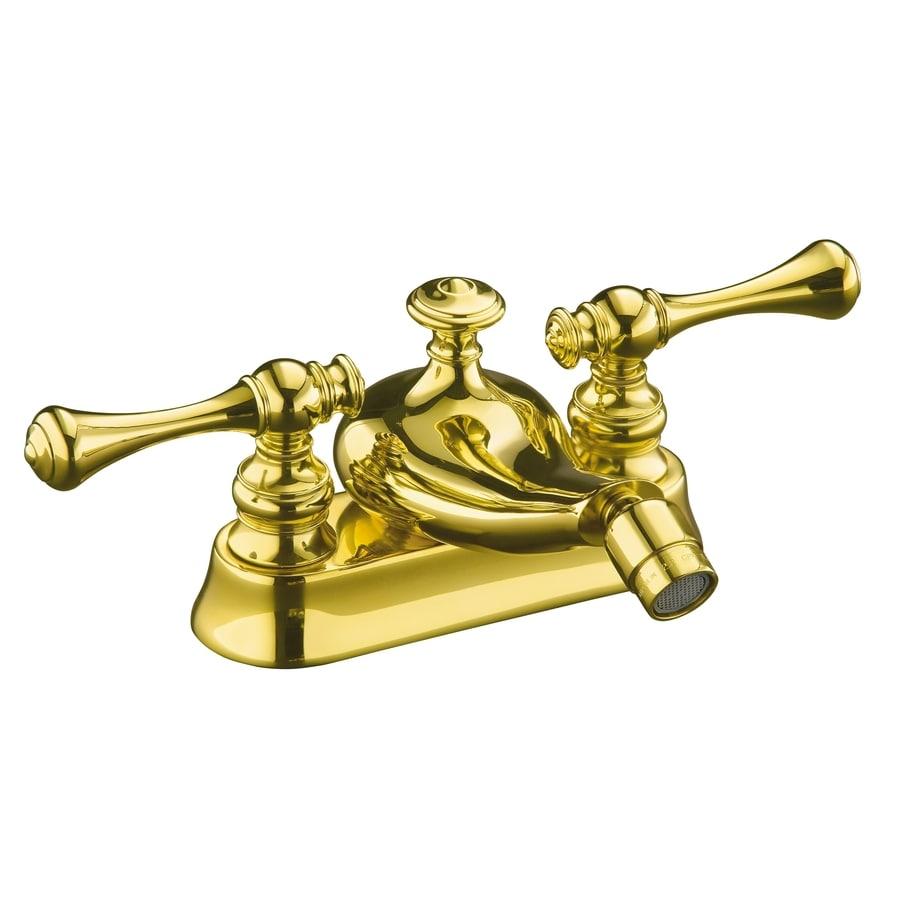 Kohler Brass Faucet : KOHLER Revival Vibrant Polished Brass Horizontal Spray Bidet Faucet ...