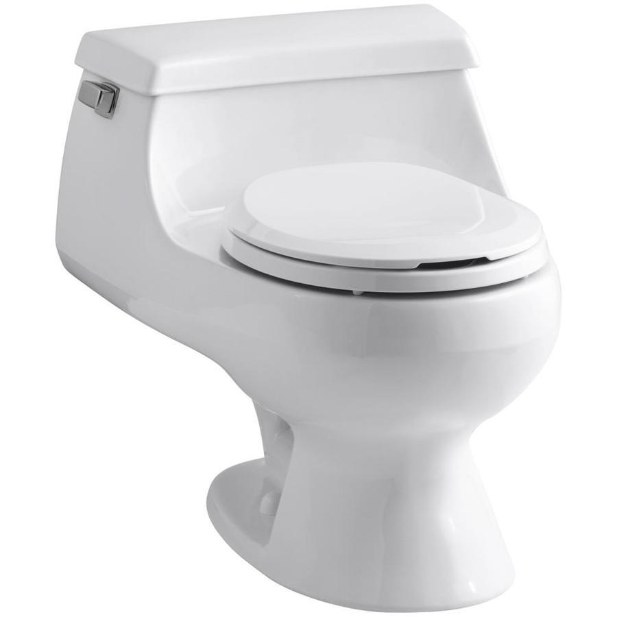 KOHLER Rialto White 1.6 GPF Round 1-Piece Toilet