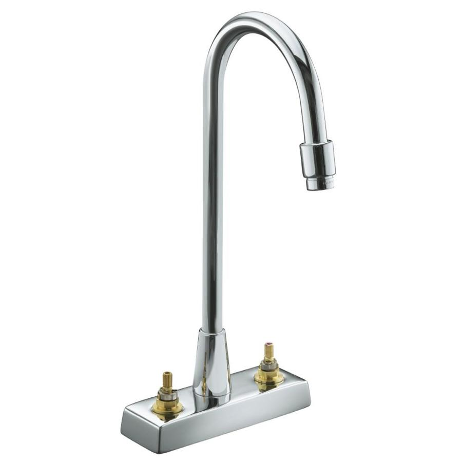 Shop Kohler Triton Polished Chrome 2 Handle Watersense Commercial Bathroom Faucet At