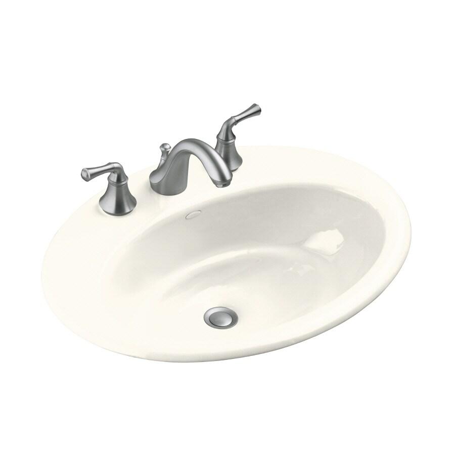 KOHLER Biscuit Cast Iron Bathroom Sink