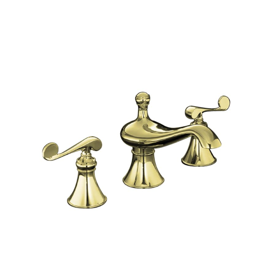 Revival Vibrant Polished Brass 2-Handle Fixed Deck Mount Bathtub Faucet Product Photo