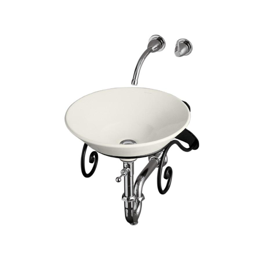 KOHLER Conical Bell Biscuit Vessel Round Bathroom Sink