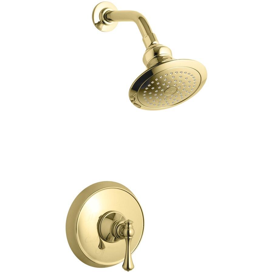 KOHLER Revival Vibrant Polished Brass 1-Handle Shower Faucet Trim Kit with Single Function Showerhead